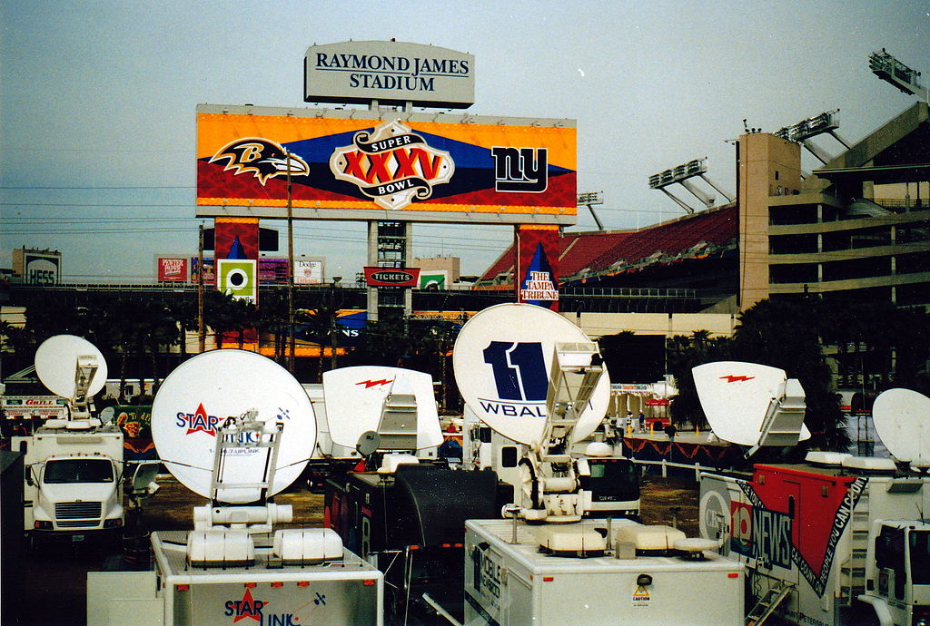 image-of-broadcasting-equipment-at-Tampa-Bay-football-stadium