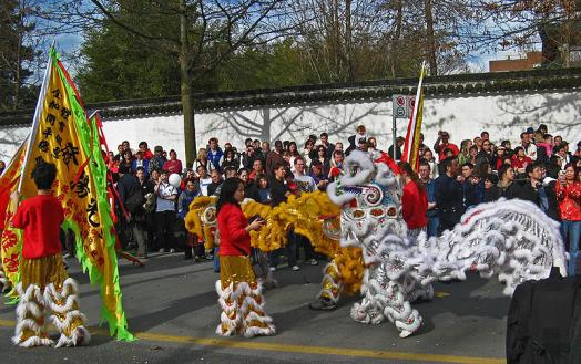 CNY Parade in Vancouver, British Columbia. Photo Credit Bobanny via Wikimedia Commons.