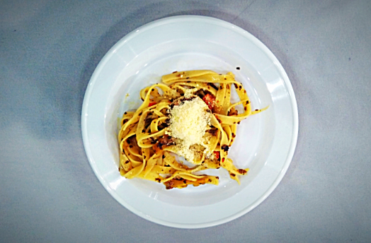 Tagliatelle-with-Fresh-Summer-Truffles-and-Grilled-Peppers-Sauce-credit-www.accidentaltravelwriter.net