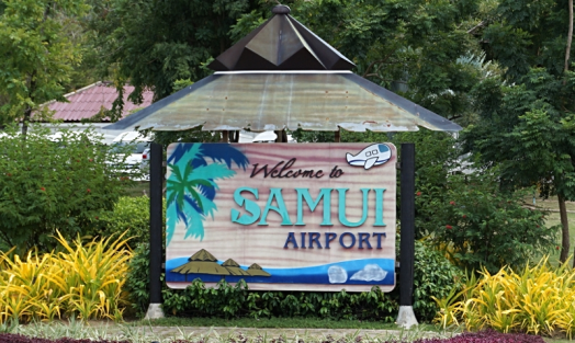 Thailand-samui-airport-welcome-sign